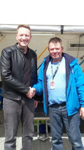 Mark Belfield Thorneycroft Solciitors and John Cresswell from Microlise Cresswell Racing